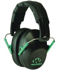 Walker's Game Ear(R) GWP-FPM1-BKTL PRO Low-Profile Folding Muff (Black/Teal)