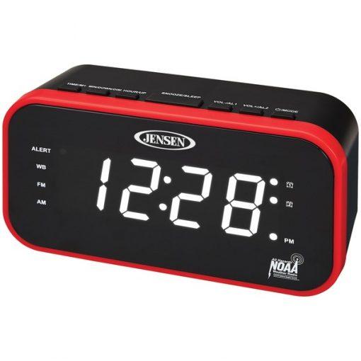 JENSEN(R) JEP-150 AM/FM Weather Band Clock Radio with Weather Alert