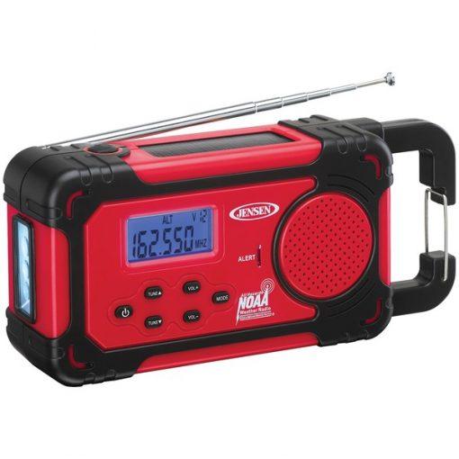 JENSEN(R) JEP-750 AM/FM Weather Band Clock Radio with 4-Way Power & Built-in Flashlight