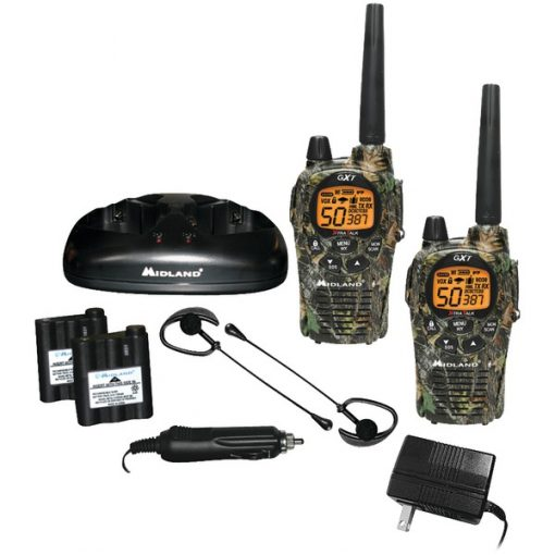 Midland(R) GXT1050VP4 36-Mile Camo GMRS Radio Pair Pack with Drop-in Charger & Rechargeable Batteries