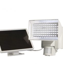 MAXSA(R) Innovations 40225-L Solar-Powered 80-LED Motion-Activated Outdoor Security Floodlight (White)