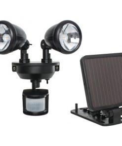 MAXSA(R) Innovations 44215 Solar-Powered Dual-Head LED Security Spotlight (Black)