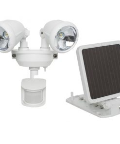 MAXSA(R) Innovations 44217 Solar-Powered Dual Head LED Security Spotlight (White)