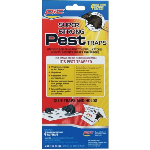 PIC(R) GPT-4 Glue Pest Trap for Spiders & Snakes