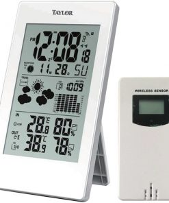 Taylor(R) Precision Products 1735 Digital Weather Forecaster with Barometer & Alarm Clock