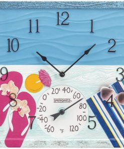 "Springfield(R) Precision 92670 14"" At the Pool Poly Resin Clock with Thermometer"