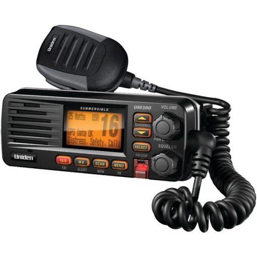 Uniden(R) UM380BK Fixed Mount VHF/2-Way Marine Radio (Black)