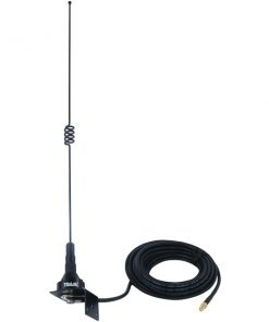 Tram(R) 10281-FSMA Pre-Tuned 140MHz-170MHz VHF/430MHz-470MHz UHF Dual-Band Trunk or Hole Mount Antenna Kit with SMA-Female Connector