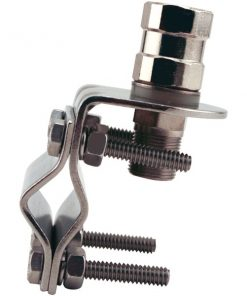 Tram(R) 278 Stainless Steel CB Mirror Mount with Tram 208 Stainless Steel CB Stud